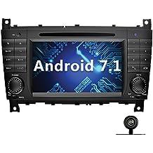 YINUO 7 Pollici Android 7.1.1 Nougat 2GB RAM 2 Din In Dash Quad Core Autoradio Schermo di Tocco Lettore DVD Navigatore GPS Per Mercedes-Benz C-Class W203 / Benz CLK W209 (Con Fotocamera Posteriore 1)