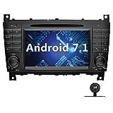YINUO 7 Zoll 2 Din Android 7.1.1 Nougat 2GB RAM Quad Core Autoradio Moniceiver DVD GPS Navigation für Mercedes-Benz C-Class W203 / Benz CLK W209...