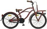22 Zoll Popal Black Fighter Jungen Cruiser Fahrrad, Farbe:rot