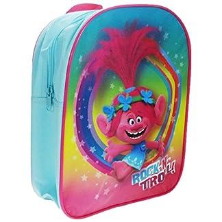 Bolso Oficial de la Mochila Escolar Trolls Rock N Troll Poppy Turquoise Glitter