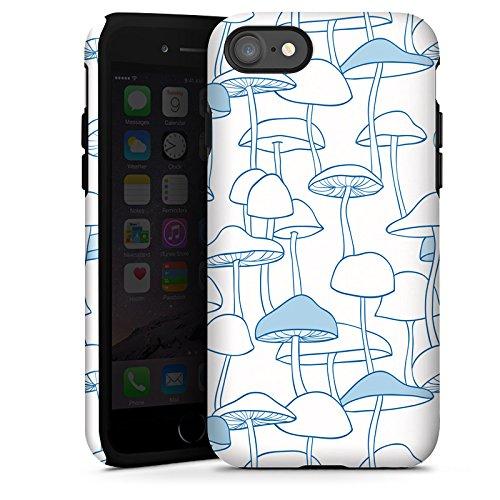 Apple iPhone X Silikon Hülle Case Schutzhülle Pilze Gift Muster Tough Case glänzend