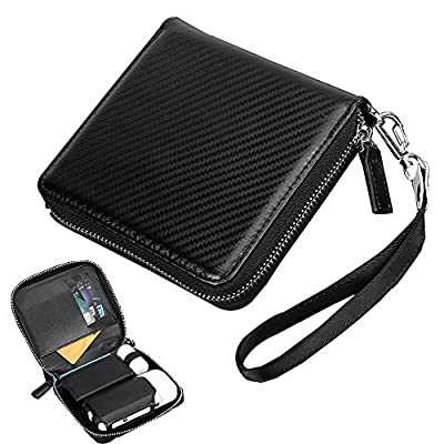 iQOS Electronic Cigarette Case PU Leather Full Protective Wallet Cigar Cover IQOS Case Holder Zipper E-Cigarette Storage Box Carrying Pouch Bag for IQOS Electric Cigarette Kit