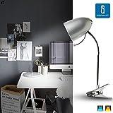 Aigostar 182281 - Lámpara de mesa tipo flexo con pinza de diseño retro