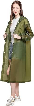 Ahsado Rain Poncho Sports Raincoats, [2 Pack] EVA Reusable Rain Coat Jacket with Hood, Rain Cover Poncho for men and women Size 145 cm by 68cm