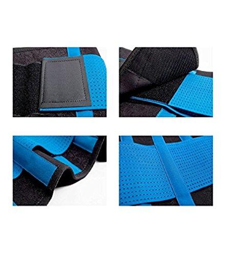 Fortuning's JDS Cinghia di dimagramento della cinghia di vita della cinghia delle donne Shapewear per il controllo del tumore del corpo Shaper per perdita di peso Blu