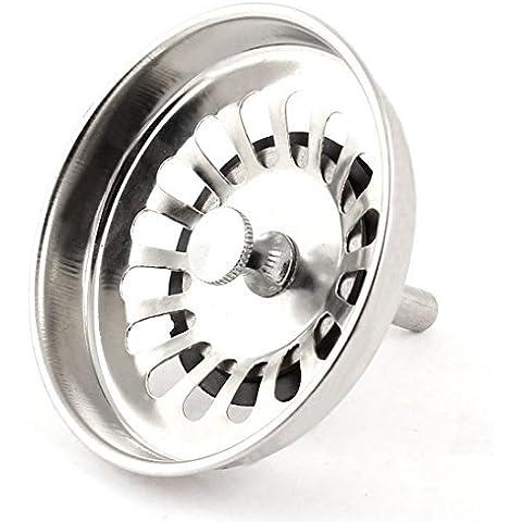 Fregadero de cocina Cuenca del colador tamiz del filtro 82 mm Diámetro del tono de plata