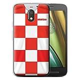 Stuff4® Gel TPU Hülle/Case für Motorola Moto E3 2016 / Kroatien/Kroatisch Muster/Weltmeisterschaft 2018 Fußball Trikot Kollektion