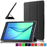 Infiland Samsung Galaxy Tab A 9.7 Case Cover- Ultra Slim Lightweight Smart Shell Stand Cover for Samsung Galaxy Tab A 9.7-inch 24,6 cm WiFi/LTE Tablet-PC T550N/ T555N (with Dual Auto Sleep/Wake Feature)(Black)