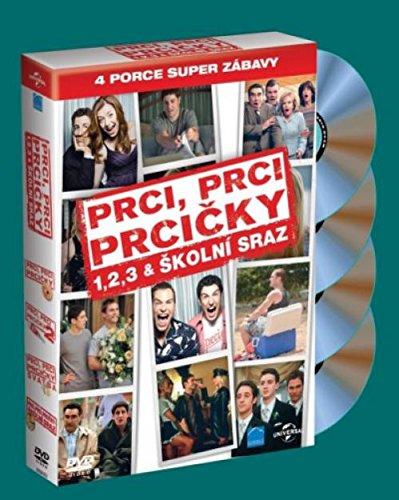4 DVD Prci, prci, prcicky 1-4 (American Pie 1-4) (Versione ceca)