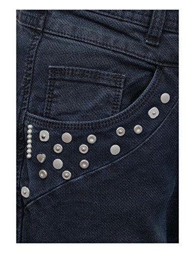 CECIL Damen Hose 371165 New York Deco Blau (Deep Blue 10128)