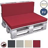 Beautissu Rückenkissen ECO Pure Palettenkissen Palettenauflage Palettenpolster für Europaletten 120x40x8 cm in Rot
