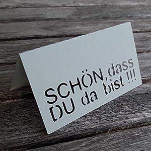 AniPolDesign Tischkarten/Schön dass DU da bist/Platzkarten zum selbst Beschriften 10 Stück in Hellgrau Tischdeko...
