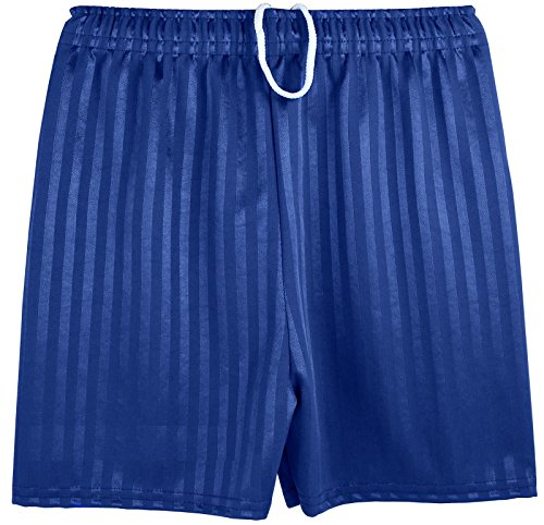 Boys Girls Unisex Shadow Stripe Gym Sports Football Games School PE Shorts (X-Large (9-10 Years), Navy)