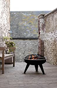 Hotspot - Urban 550 Fire Pit Brazier (With Cooking Grill & Spark Guard)