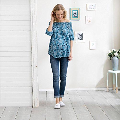 2HEARTS La tunique de grossesse et d'allaitement chemisier de grossesse chemisier de grossesse Bleu