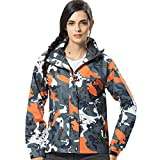 Luckycat Damen Winter Hoodie Softshell Tarnung Wasserdichter Winddichter Outdoor Mantel Jacken Mäntel Sweatjacke Winterjacke Fleecejacke Steppjacke