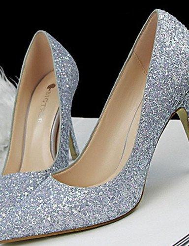 WSS 2016 Chaussures Femme-Décontracté-Noir / Rose / Violet / Blanc / Argent / Fuchsia-Talon Aiguille-Talons-Talons-Paillette pink-us5.5 / eu36 / uk3.5 / cn35