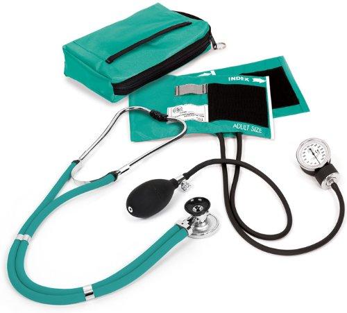NCD Medical Sprague Stethoskop mit Blutdruckmessgerät + Federmäppchen passender Teal -