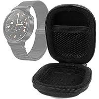 DURAGADGET Funda Rígida Para Huawei Watch - Color Negro - Pequeña Y Manejable - Muy Resistente - Con Compartimento Interno