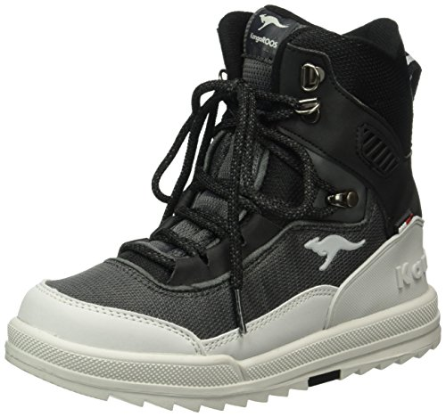 KangaROOS Killman, Bottines à doublure froide mixte enfant Noir - Schwarz (black/lt grey 529)