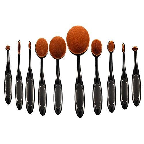 ellesye-10-pcs-pinceaux-maquillage-ovale-set-brosse-cosmetique-a-dents-professionnels-pour-les-poudr