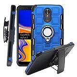 CmNo1 LG K10 Pro/Stylus 3 Fall,Heavy Duty Shockproof[Ständer][Gurt-Schwenkclip] Zweischichtiger Ganzkörperpanzer Robuster Schutz-Tragekoffer für LG K10 Pro/Stift (Blau)