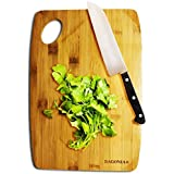 Bagonia Extra Large ♻ Eco-Friendly Bamboo Cutting Board | 2 Layered 100% Premium Organic Bamboo | Strong, And Durable Bamboo Wood | Anti-Microbial Bamboo Chopping Boards – 34 X 24 X1 Cm