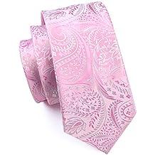 Amazon.es: Hi-Tie Paisley corbata pañuelo gemelos Jacquard tejido ...
