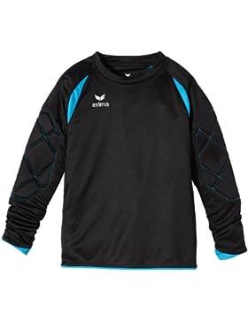 erima Torwarttrikot Tanaro – Camiseta de portero, color negro / azul, talla 8 años (128 cm)