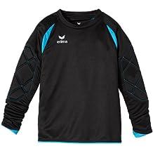 erima Torwarttrikot Tanaro - Camiseta de portero de fútbol para niño, color negro / azul, talla 12 años (152 cm)