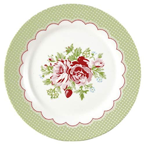 Greengate STWPLAMRY0106 Mary Assiette à Petit-déjeuner Blanc 20,5 cm