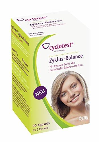 Zyklus-Balance Kapseln 90 Stück Nahrungsergänzungsmittel für Frauen mit PMS Regelschmerzen oder Menstruationsbeschwerden zum Zyklus regulieren -