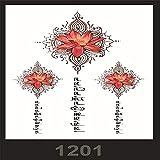 tzxdbh 3pcs-Spot Anti-Real Grande Image imperméable Fleur Bras Tatouage Autocollants beauté Tatouage Macho Ensemble 3pcs-49
