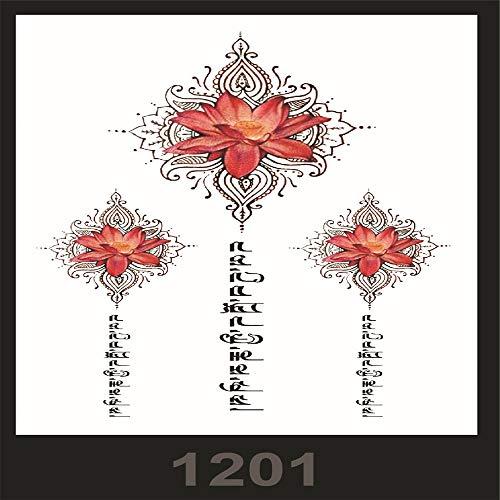 großes Bild wasserdichte Blume arm Tattoo Aufkleber schönheit Macho Tattoo Set 3Pcs-49 ()