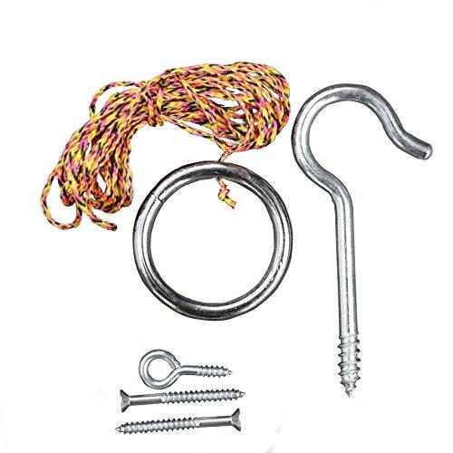 Tiki Toss Ursprüngliche Haken und Ring game Essentials umfasst Haken, ring, Schraube und Gewinde (Soap-kit Spielen)
