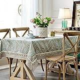 ZCC Zb Amerikanische idyllische Baumwoll- und Leinen-Tischdecke, Moderne einfache gebrochene Blumen-kleine und frische literarische und künstlerische Familien-Tee-Tabellen-Tisch-Westtischdekoration