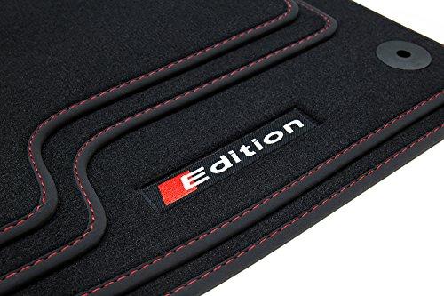 Auto Fußmatten Edition-Line Logo Bandeinfassung und Ziernaht ()