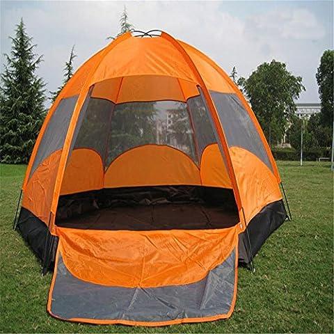 YHKQS-KQS Sommer Urlaub Strand Zelt Outdoor Camping Wasserdicht Faltbar Überdimensioniert Zelt Familie Zelt / Rucksack Zelte geeignet für 5-8 Person 240 * 240 * 145cm