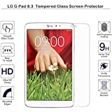 Fiimi - Protector de pantalla para LG Pad 8.3, de Vidrio templado, Dureza 9H, 0,3mm de espesor, fabricado en cristal LG G Pad 8.3