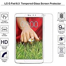 Protector de cristal templado Fiimi para LG G Pad 8,3, 9 horas dureza, 0,3 mm de espesor, hecho de vidrio kabk LG G Pad 8.3