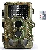 COOLIFE Caméra de Chasse Caméra de Surveillance Étanche 46 LEDs 16MP 1080P HD 20m Grand...