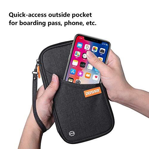 defway Portafoglio da viaggio Nero Nero - Passport holder black