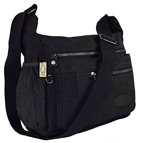 GFM Fashion, Borsa a tracolla donna Small Style 1 - Black (KL0)