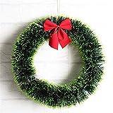 L&Z Weihnachtsdeko Dekorationen Season Tannenkranz mit Schneedecor DIY Kranz Ornamente Bunte Girlande Hape Party Hochzeit, Zuhause Favor Geschenk Dekoration(40cm)
