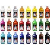 Artina®Crylic 24 colores acrílicos - Pintura acrílica de alta calidad en tubos de 500 ml - alta pigmentación y poder de cobertura