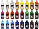 Artina 24er Crylic Acrylfarben Set als hochwertige Künstler-Malfarbe in 500 ml Flaschen für...