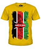Kenia Grunge Flag - Unisex: Kinder T-Shirt Top - Jungen/Mädchen/Kinder/Kleinkind - Karamellbonbon, Jungen, 152