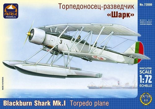 Ark Models ak72008 - Black Burn Shark MK.I Torpedo Lona