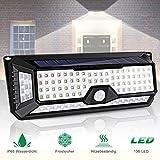136 LED Solarlampe für Außen
