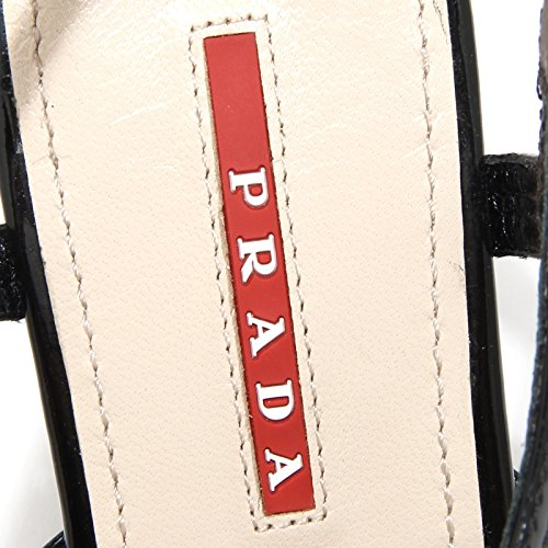 44305 sandalo PRADA SPORT zeppa scarpa donna shoes women Nero
